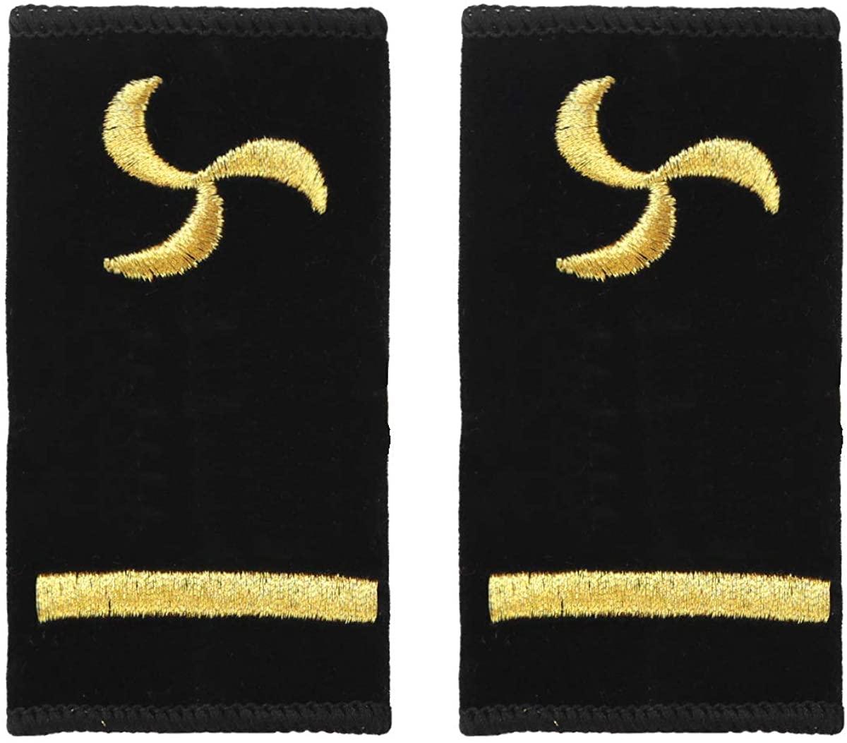 CHICTRY Captain Epaulets Sailor Uniform Epaulettes Shoulder Boards with Gold Embroidered Propeller for Mariner Seaman