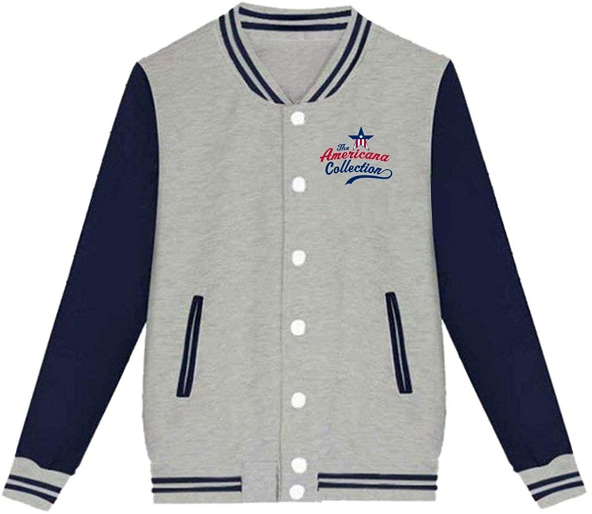 Americana Collection Baseball Jacket,Unisex Custom Varsity Jacket Baseball Jacket Uniform Sweater Coat
