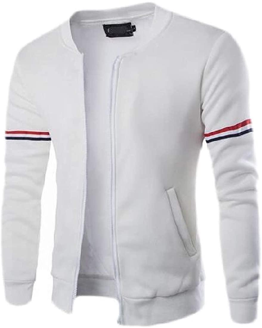 Wndxfhdscd Men's Stand Collar Casual Outwear Long Sleeve Jackets Coat