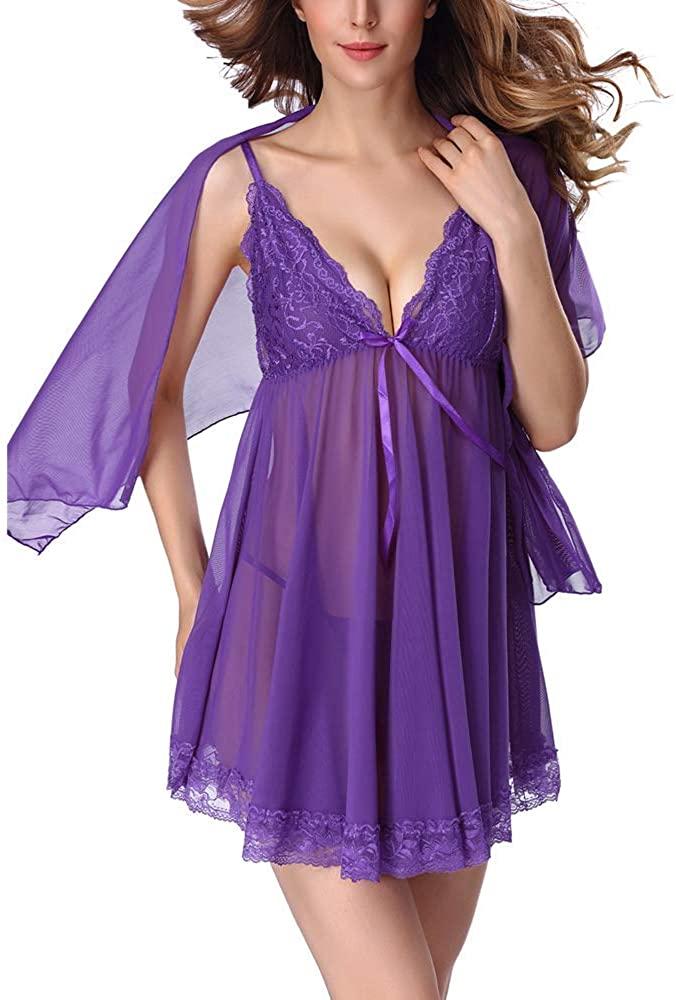 N/D Women Sexy High Waist Evening Dress Dress Dress Sundress Mini Dress with Mesh Club Costume Skirt Purple