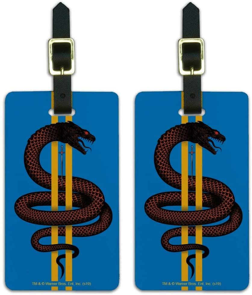 Harry Potter Basilisk Luggage ID Tags Suitcase Carry-On Cards - Set of 2
