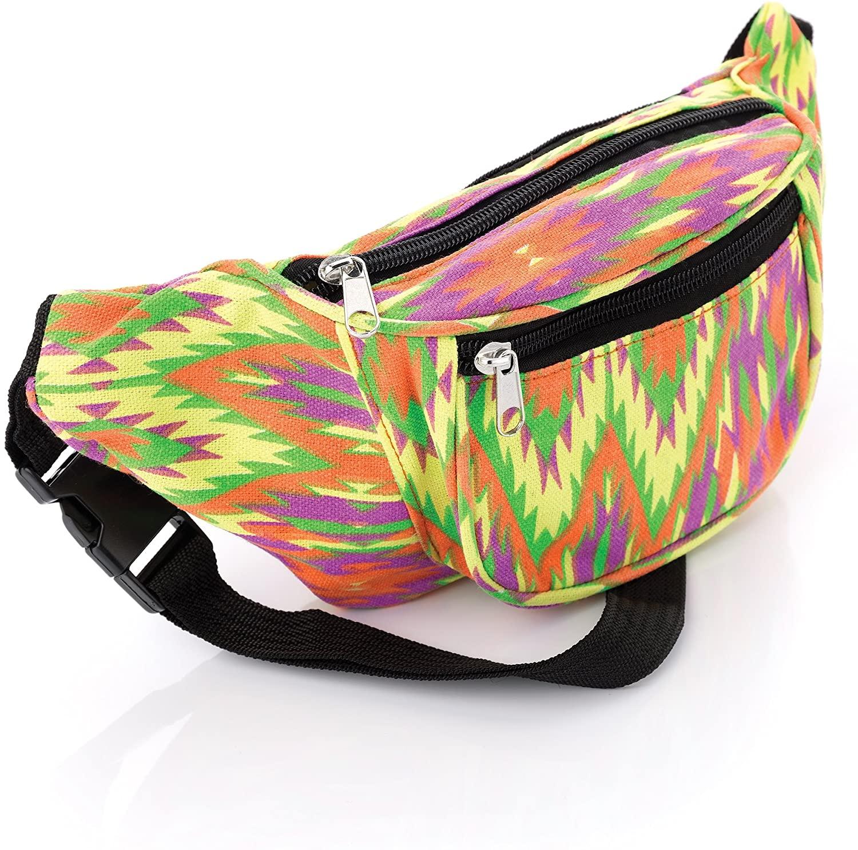 Bright Tone Abstract Design Waist Bag Fanny Pack Money Bum Bag Hip Belt