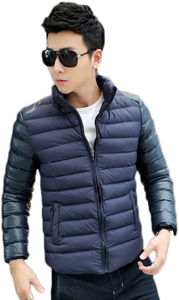 AK Beauty Men's Stand Collar Winter Coat