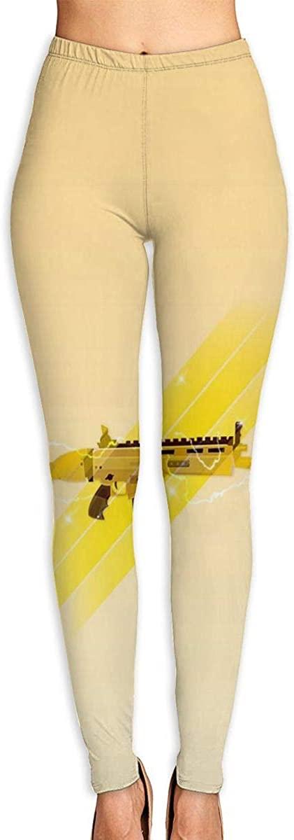 Apuiutw Gun Women Funny Print Yoga Leggings Pants Workout Fitness Pants Sports Gym Yoga Quick Dry Capri Leggings