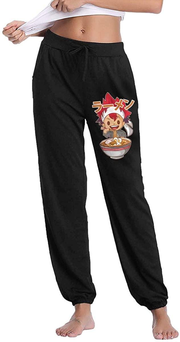 Amy J Nace Food Wars Comfortable Women's Pocket Casual Drawstring Waist Long Track Pants