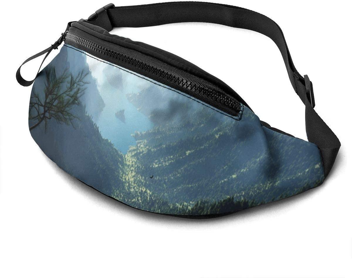 American Beautiful Canyon Fashion Casual Waist Bag Fanny Pack Travel Bum Bags Running Pocket For Men Women