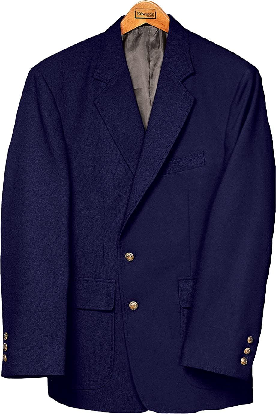 Edwards Men's Value Poly Blazer, NAVY, 54