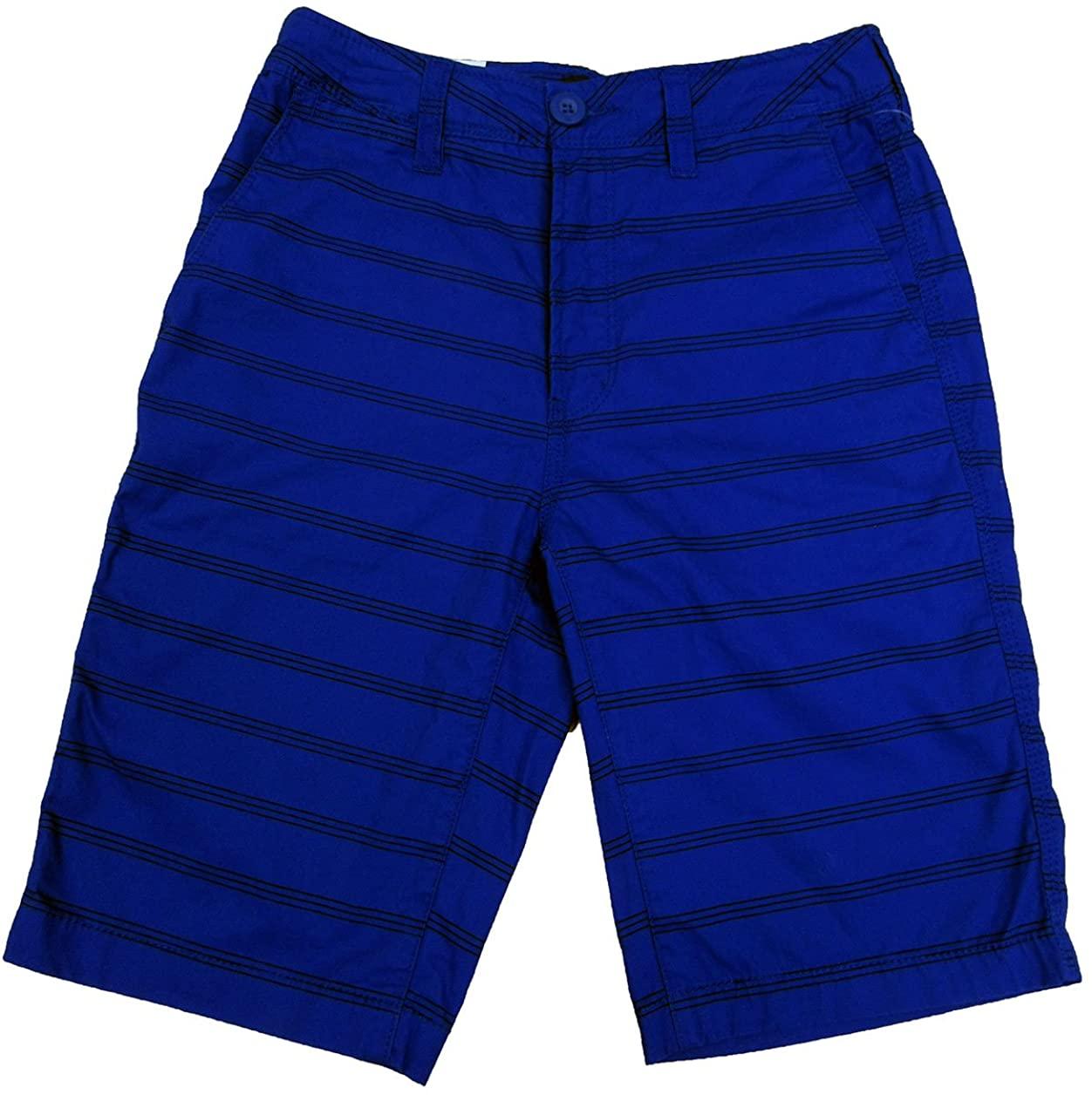 Univibe Big Boys' (8-20) Harrison Striped Chino Shorts Dodger 18