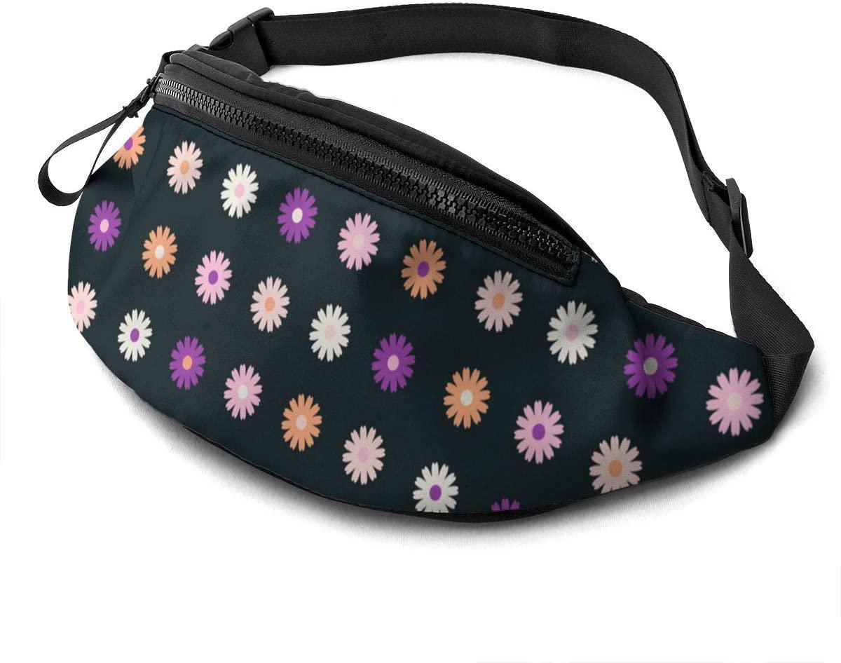 Flower Background Fanny Pack Fashion Waist Bag