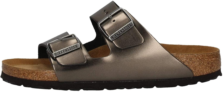 Birkenstock Unisex Arizona Metallic Anthracite Sandals - 7-7.5 B(M) US Women