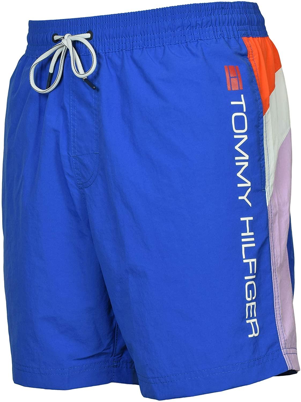 Tommy Hilfiger Mens Austin Colorblock Quick Dry Swim Trunks