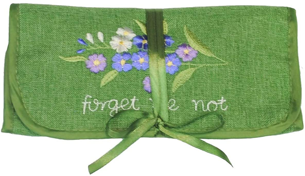 Jewelry Roll in a Forget-me-Not Design