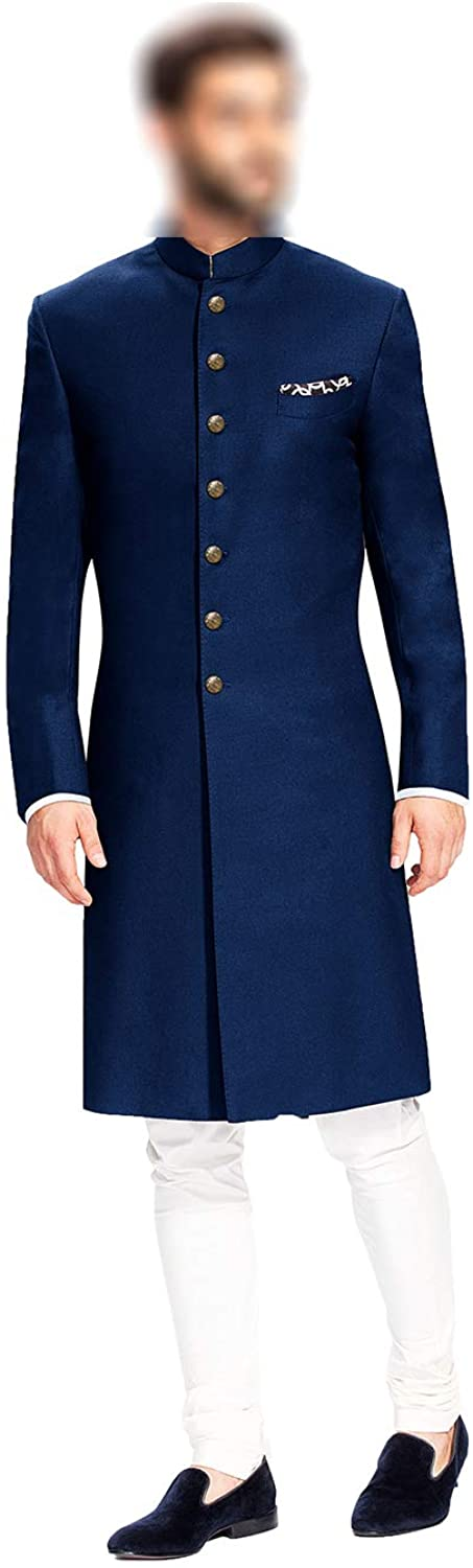 daindiashop-USA Indian Jodhpuri Achkan Suit for Men Wedding Sherwani Partywear bhandgala Outfit
