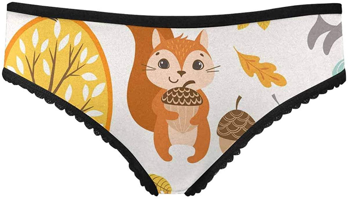 InterestPrint Women's All Over Print Lightweight Briefs Underwear Autumn Alley