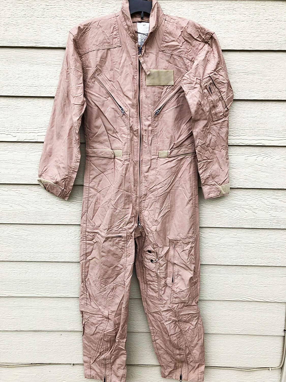 Genuine Us Air Force USAF Tan Nomex Fire Resistant Flight Suit Cwu-27/p - Size 36R