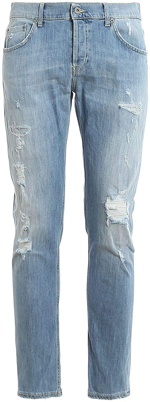 Dondup Luxury Fashion Man UP168DS0107UAA8DU800 Light Blue Cotton Jeans   Spring Summer 20