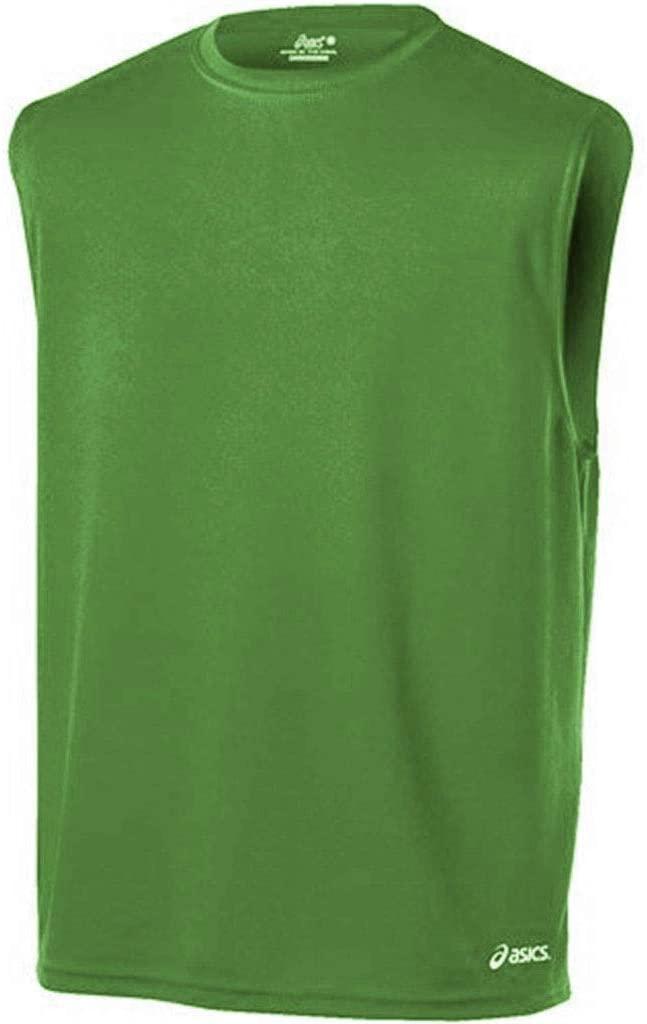 ASICS Mens Mesh Core Running Tank Top, Green (Large)