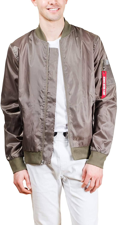 Brooklyn Athletics Men's Nylon Bomber Jacket