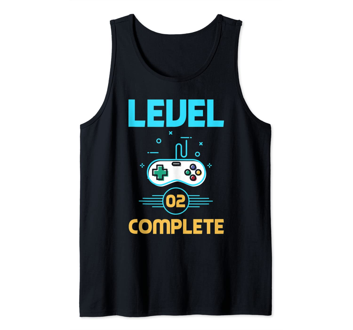 Level 2 Complete 2nd Year Wedding Anniversary Vintage Gamer Tank Top