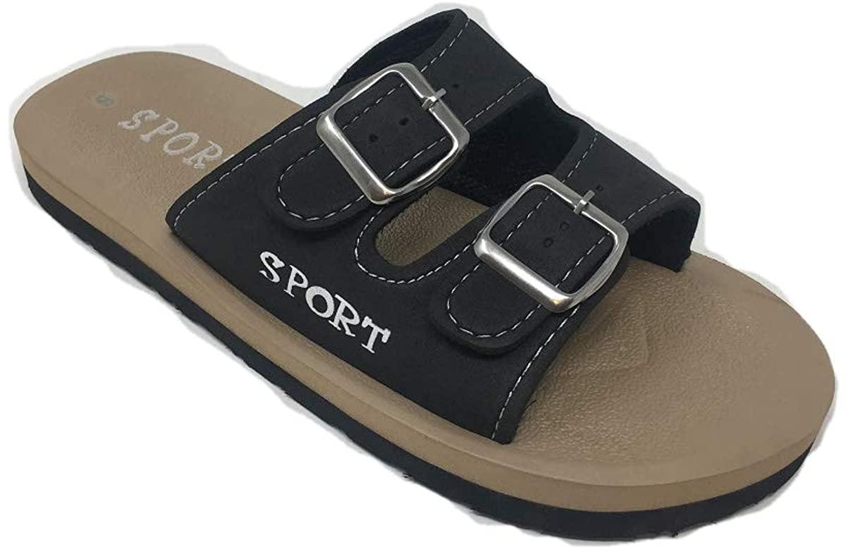 Ameta Men's Adjustable Double Buckle Slide Summer Sandals