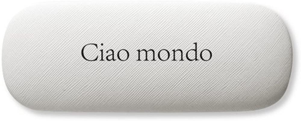 Hello World Italian Glasses Case Eyeglasses Hard Shell Storage Spectacle Box