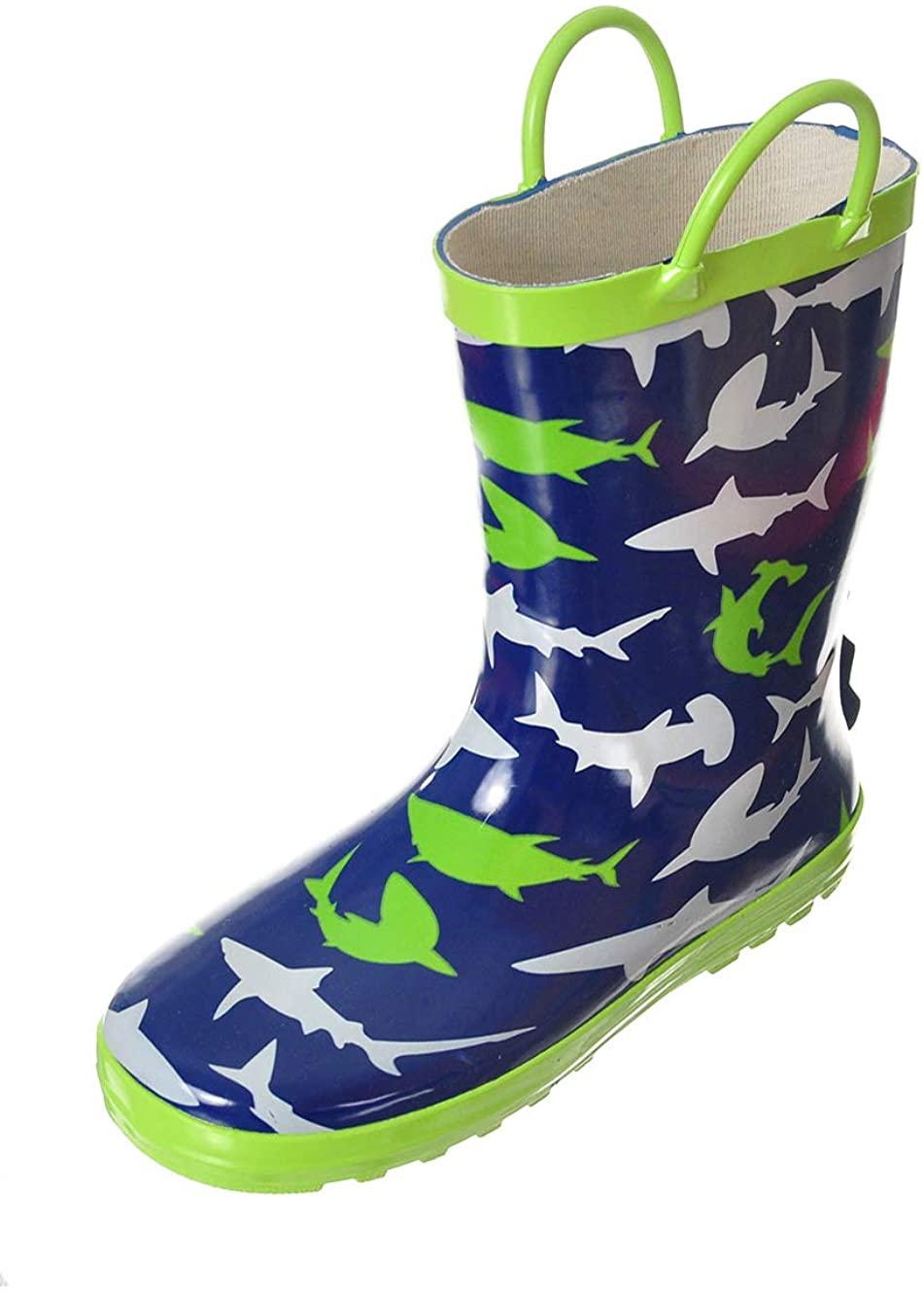 LILLY Boys' Shark Shower Rain Boots