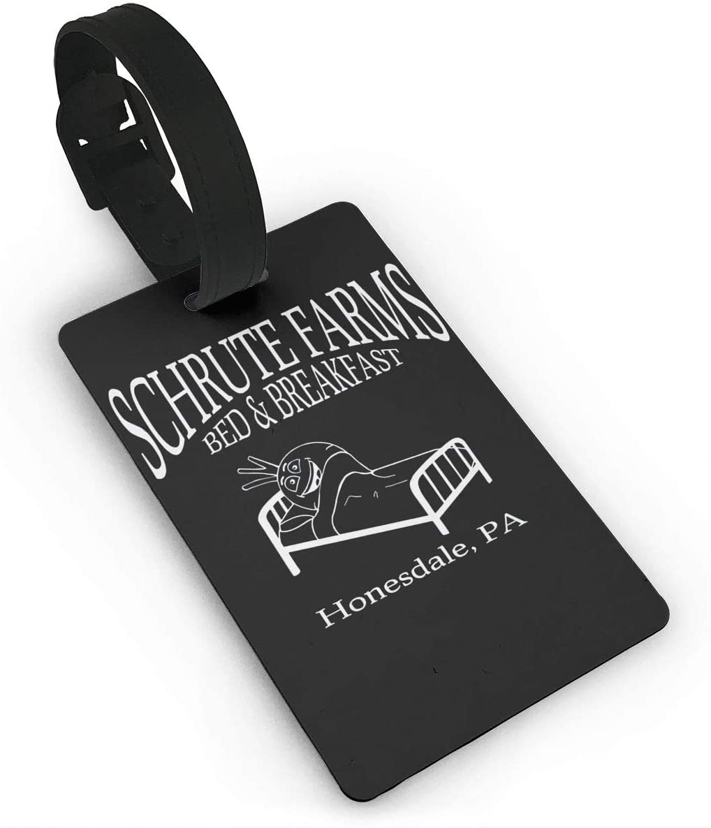 Lmlfes Schrute Farmtravel Luggage Tag with Rope Suitcase Tag.