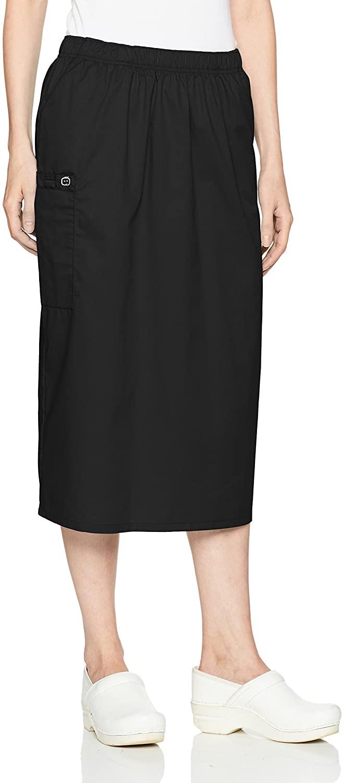 WonderWink Womens Wonderwork Pull-on Cargo Scrub Skirt