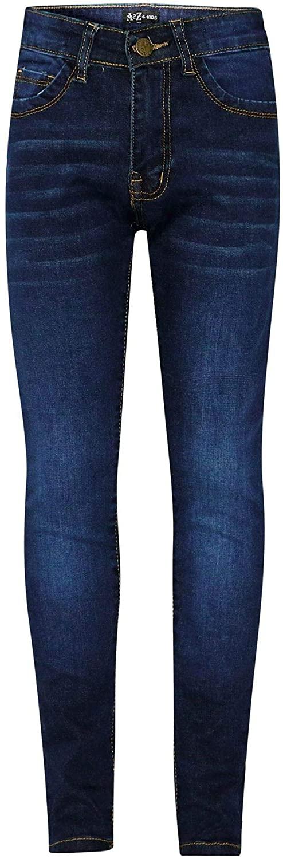 Kids Girls Skinny Jeans Designer Dark Blue Denim Stretchy Pant Fit Trouser 5-13Y