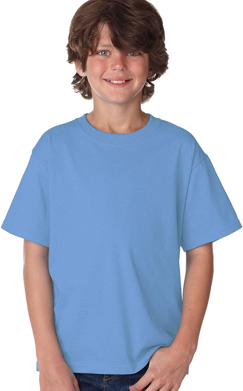 Boy's Short Sleeve Crew Neck T-Shirt in Carolina Blue