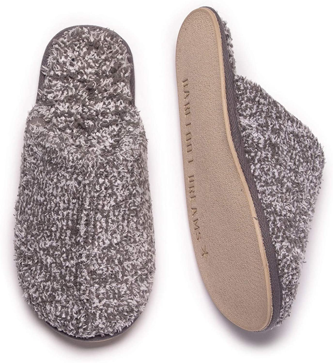 Barefoot Dreams CozyChic Cozy Slippers for Men, Open-Back House Slippers