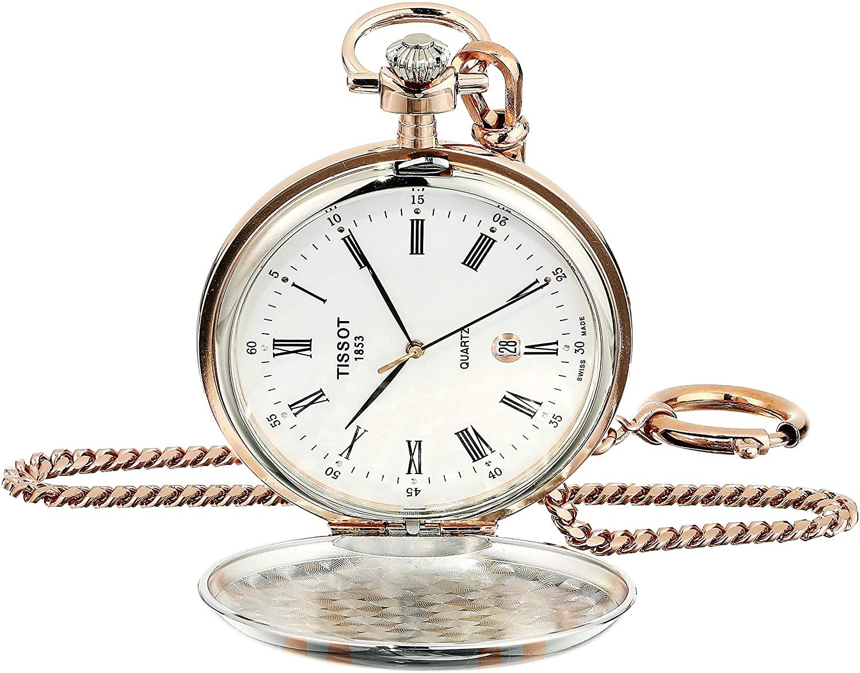Tissot Unisex Savonnette Swiss Quartz Brass Pocket Watch (Model: T8624102901300)