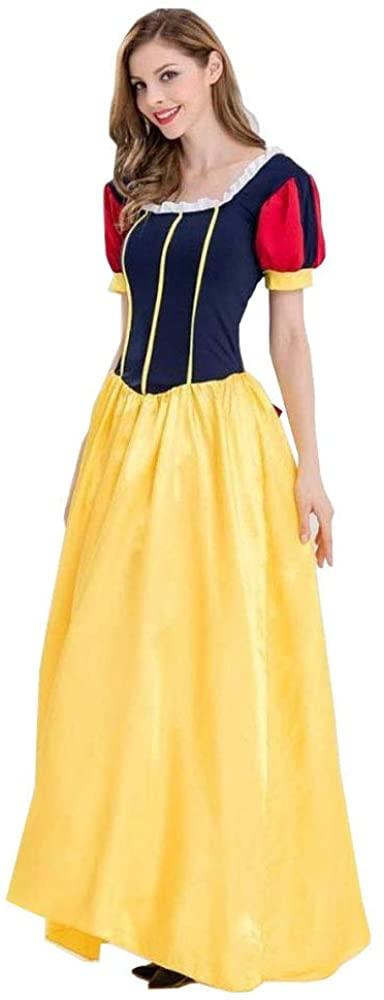 Peachi Women Halloween/Christmas Ball Transvestite Snow White Skirt Fancy Dress Adult Christmas Party Cosplay Costume (XL)