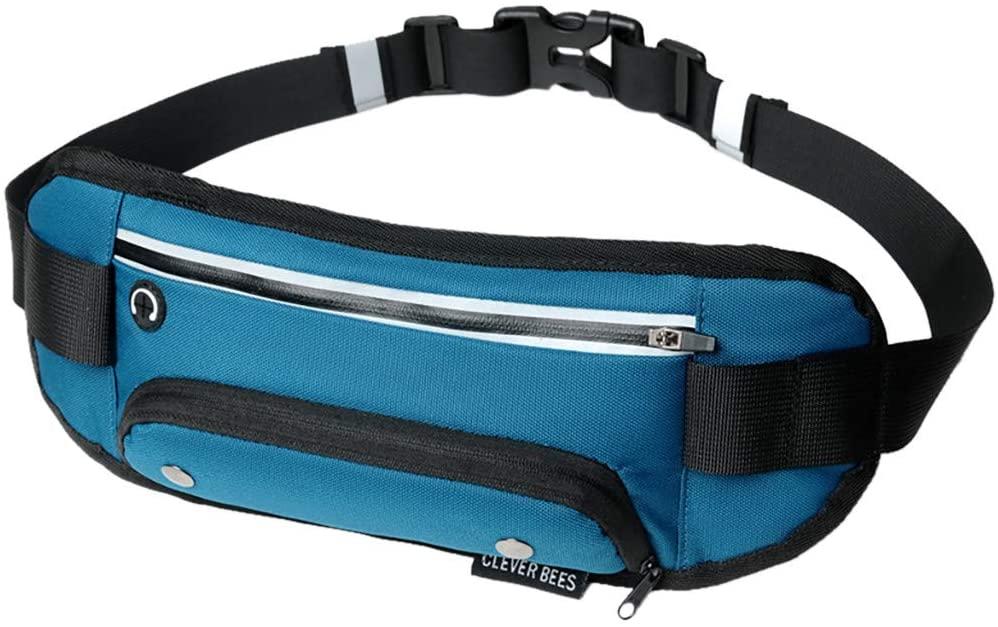 Centory Travel/Running Belt Waist Fanny Pack - Adjustable, Water Resistant Running Belt Waist Pack
