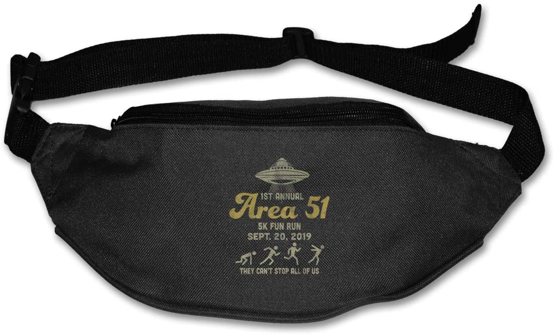 1st Annual Area 51 5k Fun Run Sept 20 2019 Unisex Outdoors Fanny Pack Bag Belt Bag Sport Waist Pack