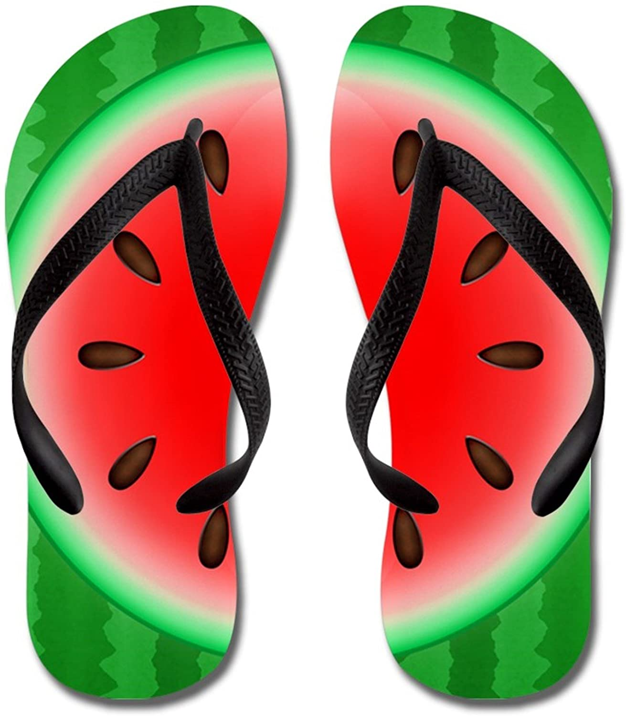 Lplpol Watermelon Slice Sandals Flip Flops for Adults XL with