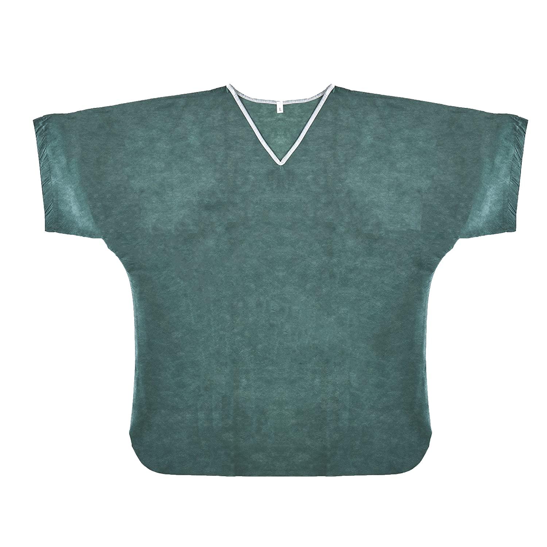 Graham Medical 78686 Scrub Shirt, Disposable, 4-5XL, Green (Pack of 30)