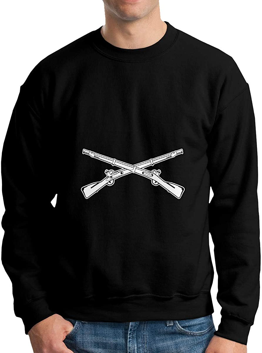 Army Infantry Branch Insignia Military Men Crew Neck Sweater Classic Fashions Sweater