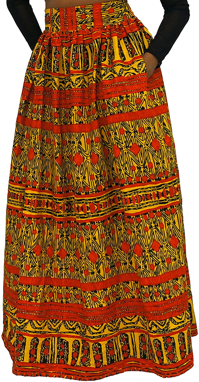 The Urban Turbanista 100% African Wax Cotton Long Maxi Skirt Ankara/Kitenge