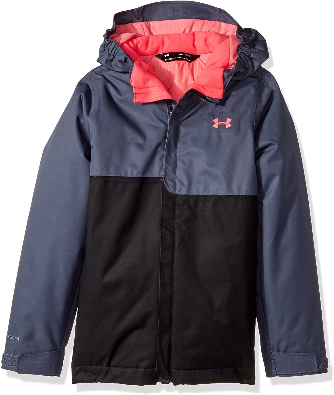 Under Armour Kids Girl's PP Rideable Jacket (Big Kids) Apollo Gray/Black/Penta Pink XS (7 Big Kids)