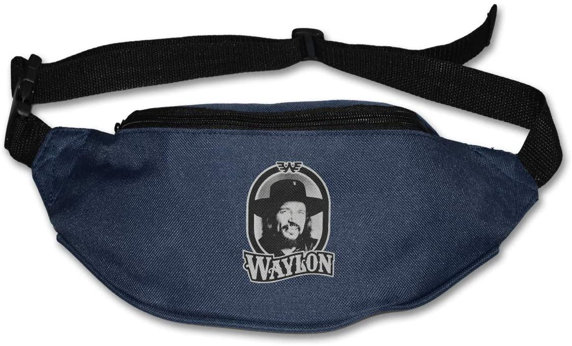 Sunlenvai Waylon Jennings Tour 79 Pack Runners Belt Fanny Pack Running Belt Waist Navy
