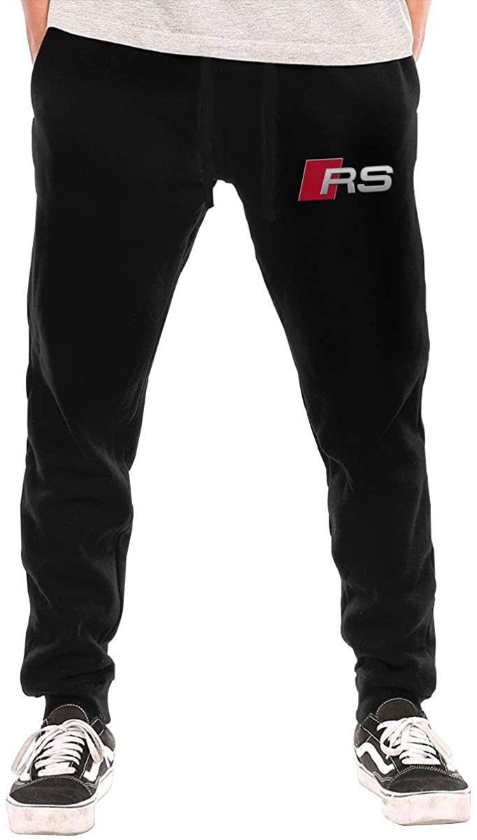 C-JOY Men's Sweatpants Rs Sport Car Athletic Jogger Long Pants Black