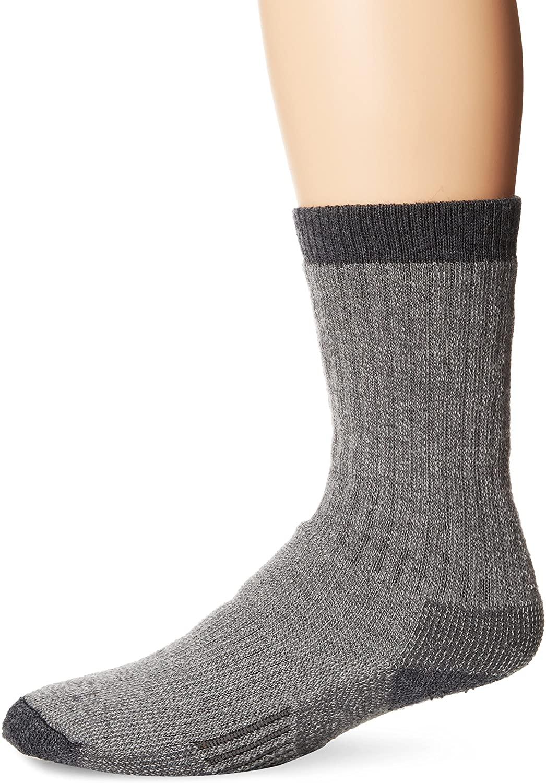Woolrich Men's Big Wooly Crew Sock, Gray, Sock Size:10-13/Shoe Size: 6-12