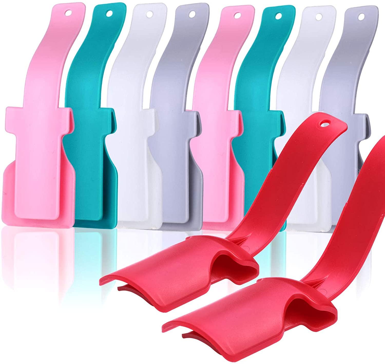 Shoe Helper - Lazy Shoe Horn Helper - Shoe Lifting Helper Easy on Easy off - Portable Sock Slider for Men, Women and Kids (10Pcs)