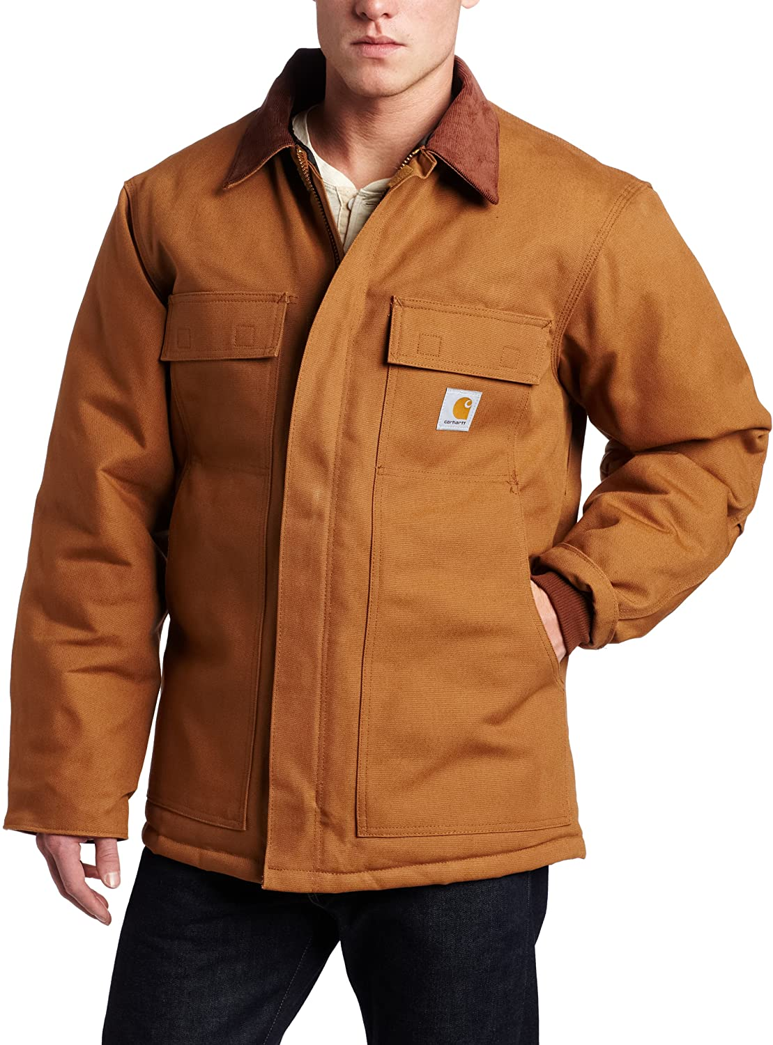 Carhartt Mens Big & Tall Arctic Quilt Lined Duck Traditional Coat C003