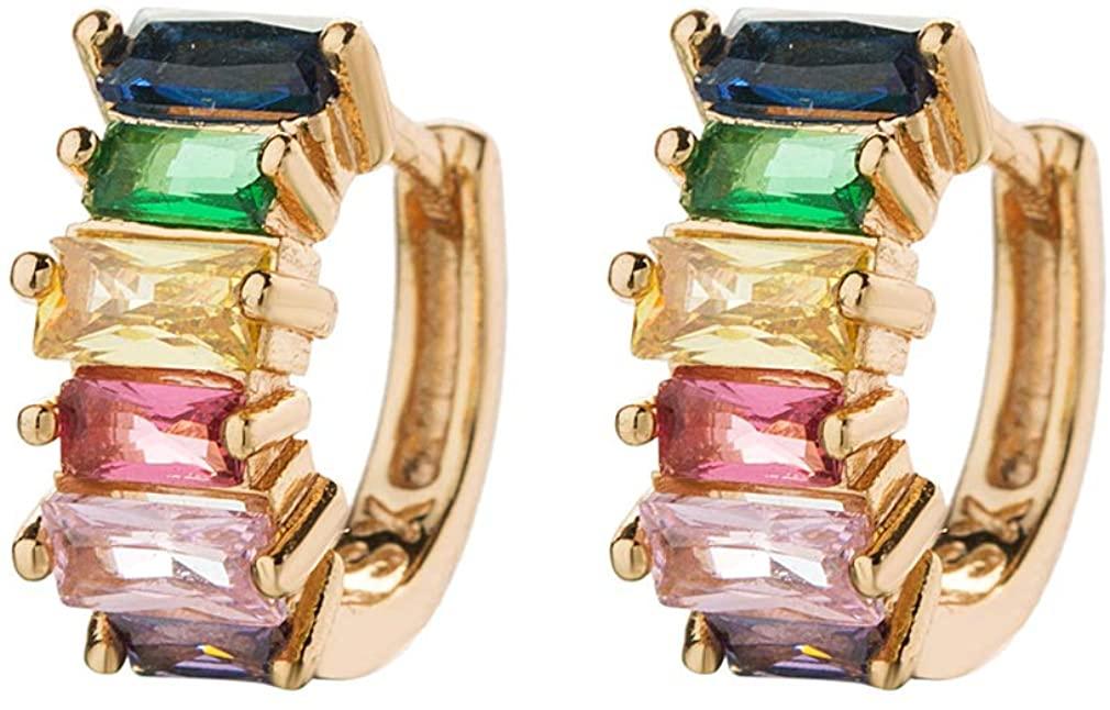 Ai.Moichien Rhinestone Lever-Back Earrings for Women Girl Personalized Elegant Jewelry