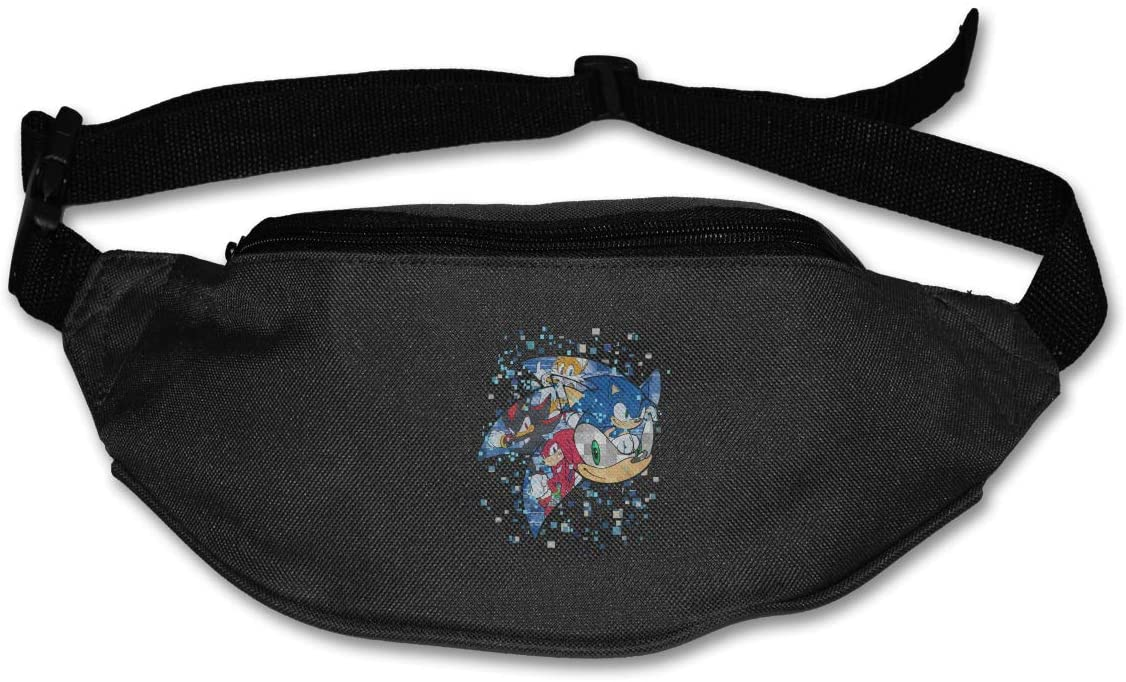 Ertregysrtg Sonic The Hedgehog Runner's Waist Pack Fashion Sport Bag