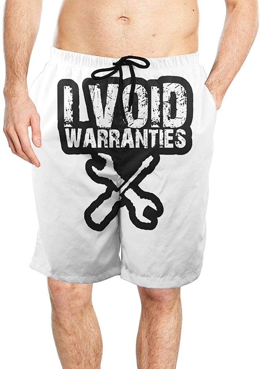 I Void Warranties Men's Seaside Beach Swim Trunks Quick-Drying Stretch Comfortable Shorts