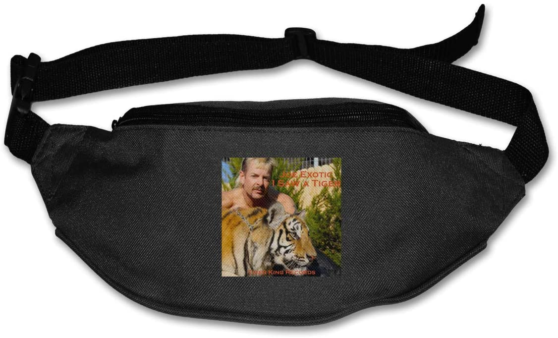 Ssxvjaioervrf Joe Exotic The Tiger King Running Belt Waist Pack Runners Belt Fanny Pack Black