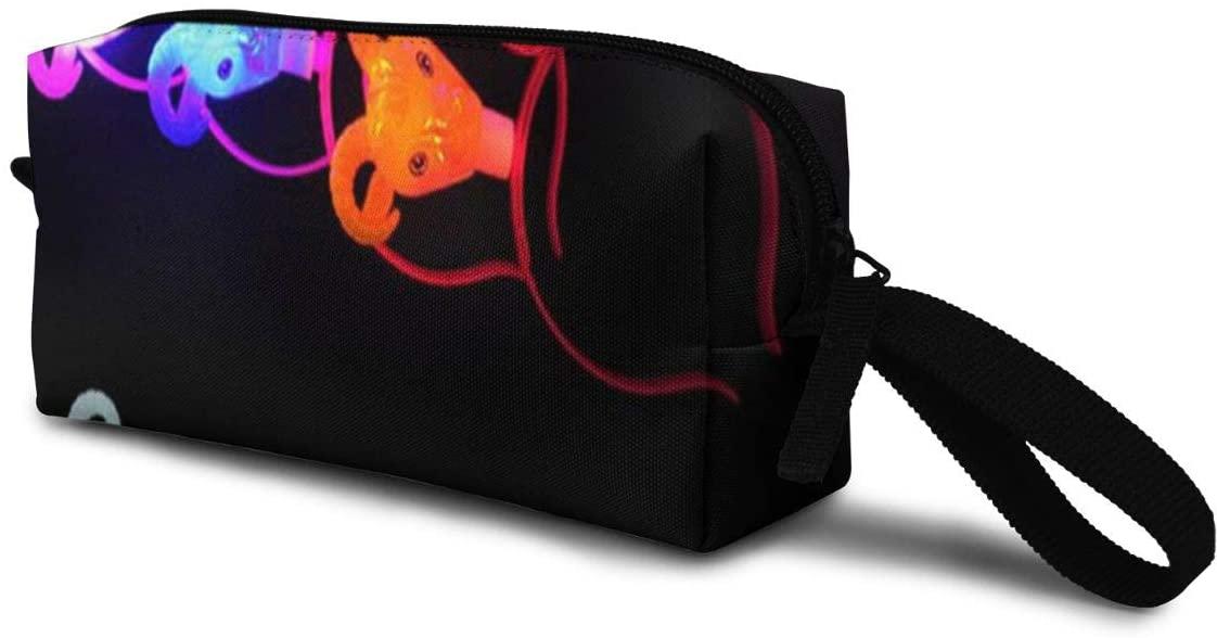 T-JH Colors Goat Head Mini Makeup Bag,Portable Cosmetic Bag,Organizer,Toiletry Handbag,Medicine Bag,Storage Pouch for Women Purse